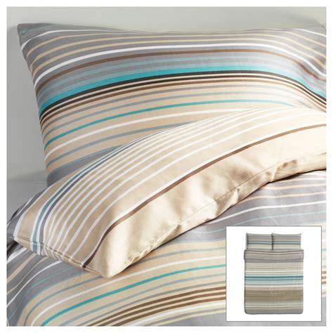 ikea twin comforter ikea palmlilja duvet quilt cover beige turquoise stripe