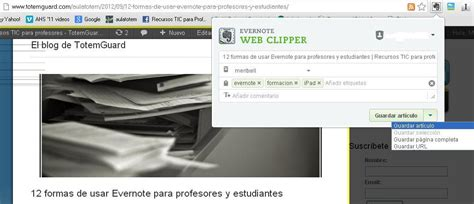 evernote web clipper android evernote encontrar una aguja en un pajar en segundos recursos tic para profesores