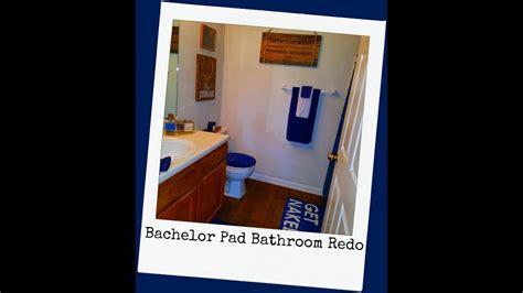 bachelor pad bathroom decor bachelor pad bathroom decor redo youtube