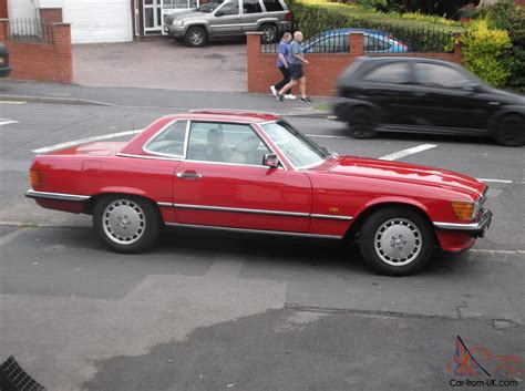 classic red mercedes 1987 classic mercedes 420 sl auto signal red convertible