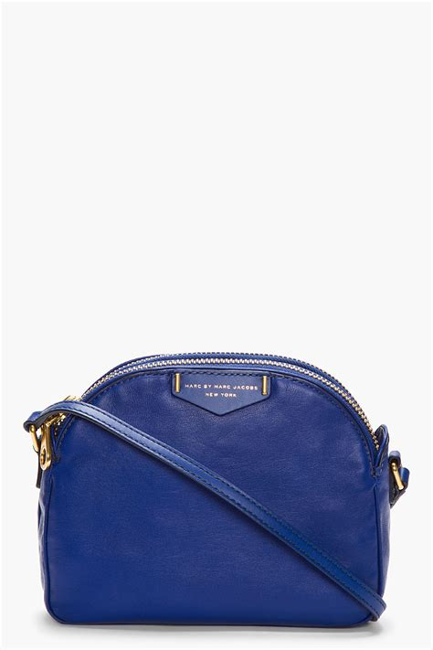 Andrew Marcs Lola Shoulder Bag by Marc By Marc Royal Blue Leather Downtown Lola Cross