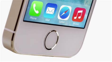 iphone 5s home button touch id sensor closeup obama pacman