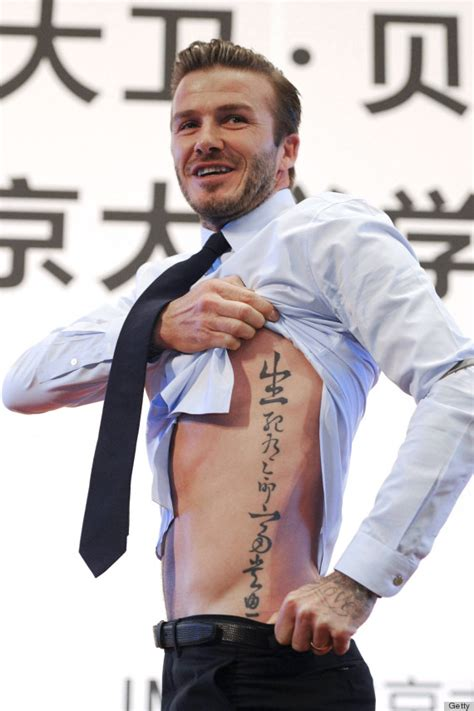 beckham kanji tattoo meaning david beckham tattoo unveiled in china photos huffpost