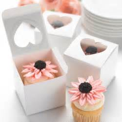 Cupcake Boxes For Wedding Favors by Wedding Cupcake Favor Boxes Windows Set Of 24