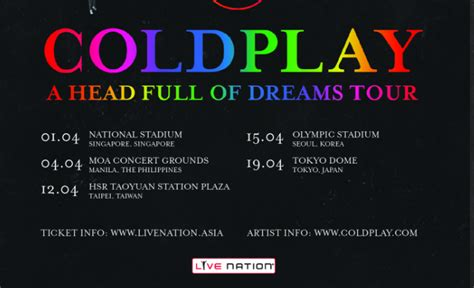 coldplay website coldplay confirms 2017 concert in the philippines