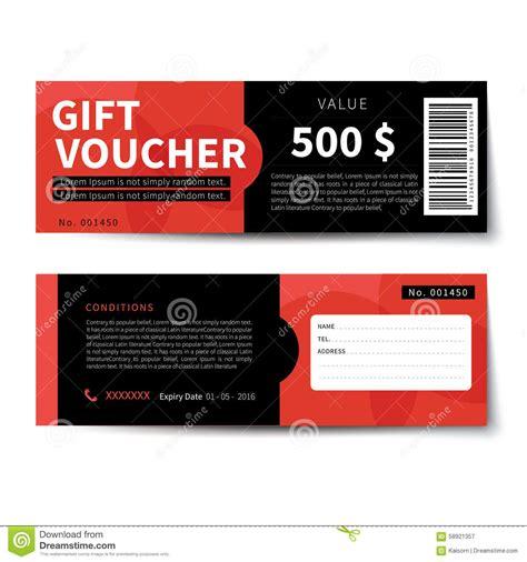 gift voucher discount template design stock vector image
