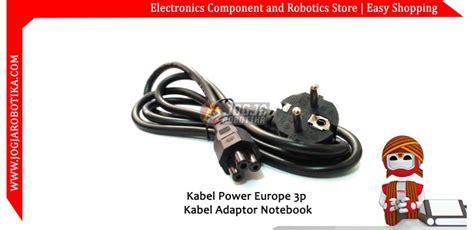 Kabel Power Laptop 3 Lubang Websong 18m kabel power europe 3p kabel adaptor notebook toko komponen elektronik listrik led dan robotika