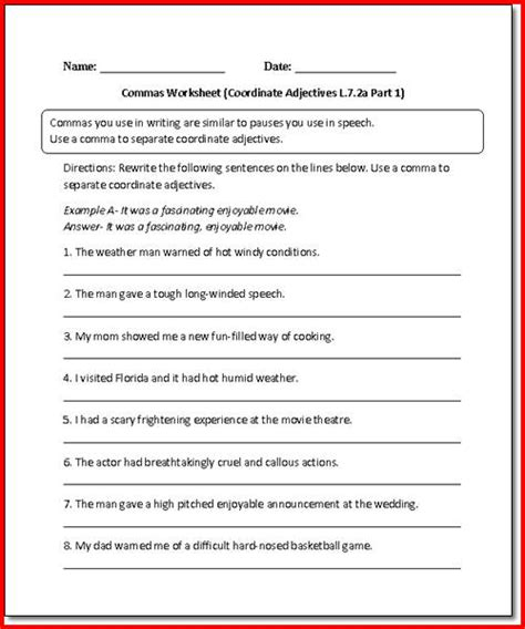 3rd grade language arts worksheets free worksheets library