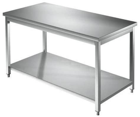 tavolo acciaio inox prezzi tavolo lavoro professionale in acciaio inox con ripiano cm