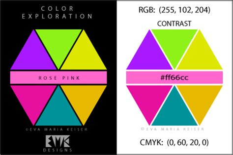 contrast color for pink eva maria keiser designs explore color quot rose pink