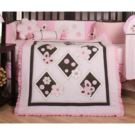 Butterfly Crib Bedding Sets by Geenny Pink Brown Butterfly 13pcs Crib Bedding Set