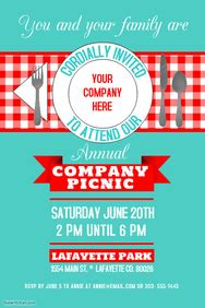 1 080 Customizable Design Templates For Company Picnic Postermywall Picnic Flyer Template Word
