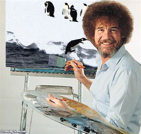 bob ross painting in photoshop bob ross painting penguins pictures
