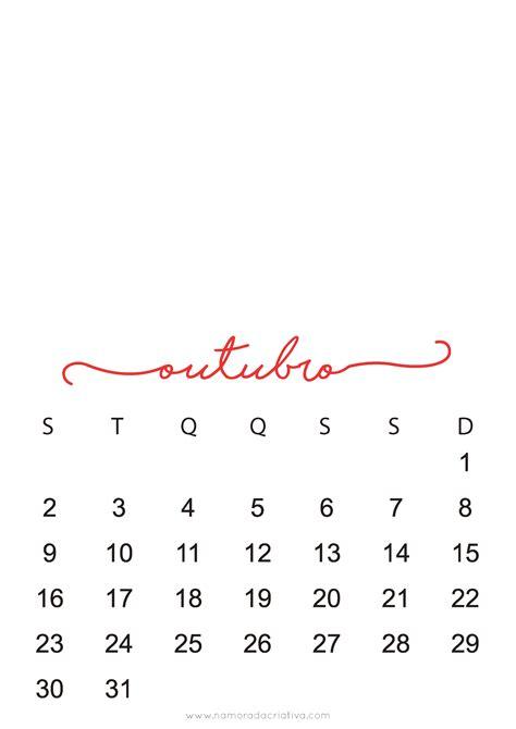 Calendario Do Mes De Outubro De 2017 Calend 225 2017 Personaliz 225 Vel Namorada Criativa Por