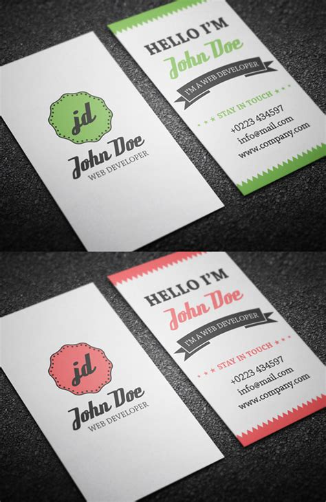 personal card templates for use with word free business cards psd templates print ready design