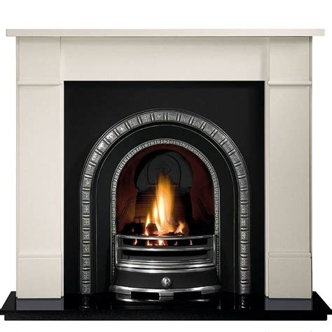 Brompton Limestone Fireplace by Gallery Brompton Limestone Fireplace With Henley Cast Iron