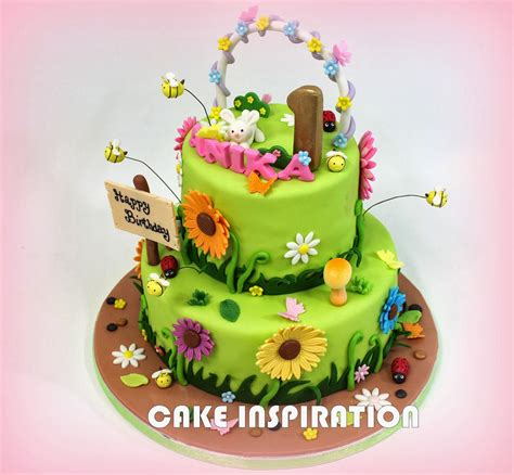 flower garden cakes sweet garden theme flower cake singapore colorful daisey