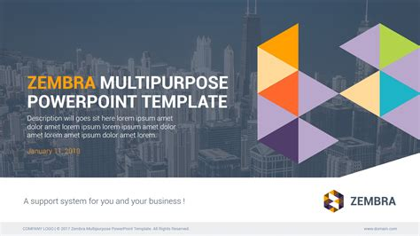 Zembra Multipurpose Powerpoint Template By Kh2838 Graphicriver Multipurpose Powerpoint Template Free