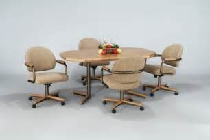 Dining Table Chairs With Rollers Kitchen Dining Sets With Caster Chairs Caster Chair