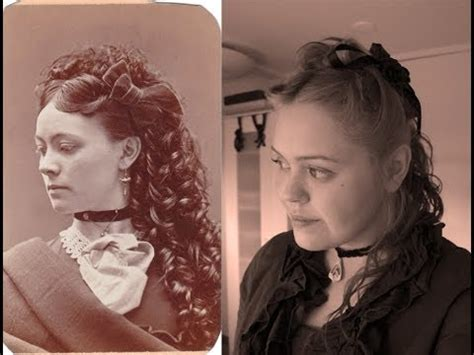 1800s hairstyles women with long hair victorian hair updo youtube
