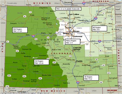 State Of Colorado Records Cdot Region Map My