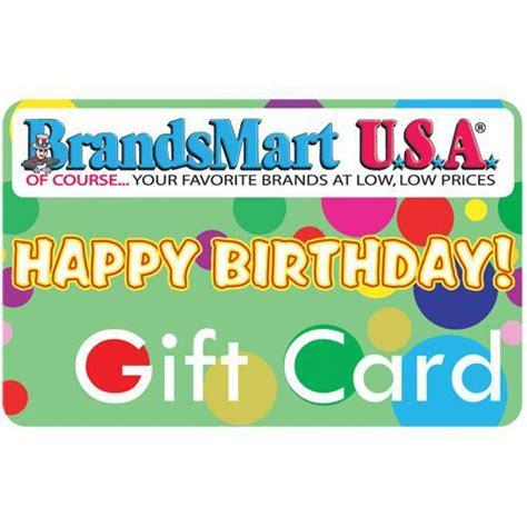 Brandsmart Gift Card - brandsmart usa gift card 50 happy birthday fifty dollar happy birthday purchase