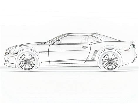 2010 Camaro Coloring Pages Coloring Home Camaro Coloring Page