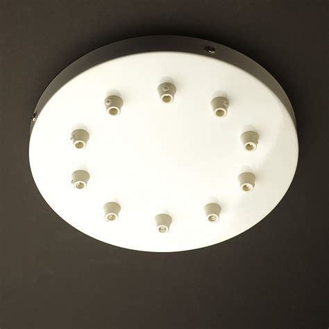 Ceiling Light Plate 260mm Black Or White Drop Cord Grip Ceiling Plate
