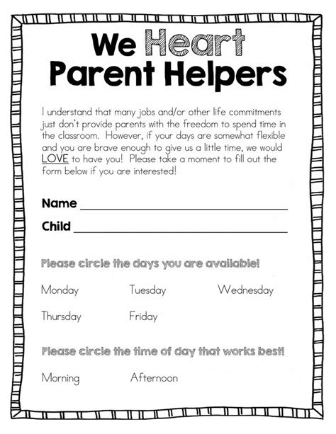 Parent Volunteer Letter For Classroom 25 Best Ideas About Parent Volunteer Form On Parent Volunteer Letter Parent