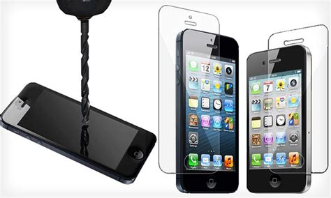 Tempered Glass 3d Iphone 5s 3d luxe iphone screen protector groupon goods