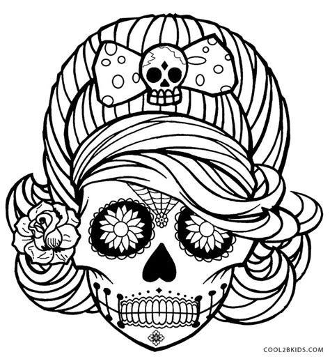 free coloring pages of skulls