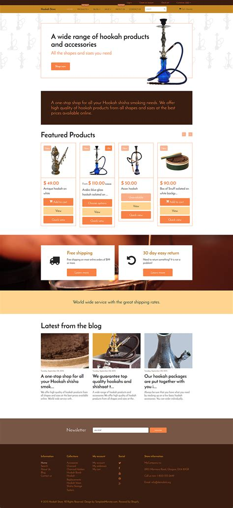 shopify themes for large inventory tobacco store shopify template