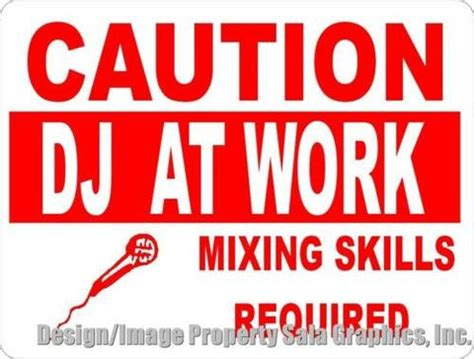 dj skills the essential guide to mixing and scratching books warning beware of the dressmaker sign signs by salagraphics