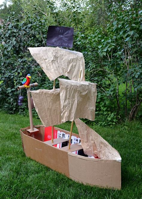 cardboard boat thames cardboard pirate ship wheel woodworking projects plans