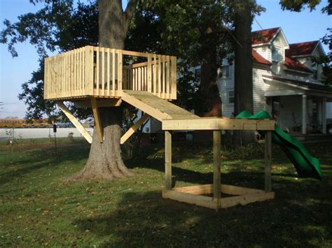 standing tree house plans woodworking projects plans