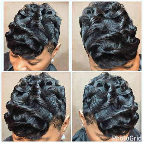 Soft Waves Hairstyle For Black by Black Hairstyles Waves Tapered Wavy Haircut Black