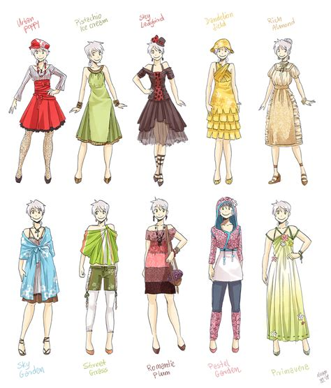 design art wear various female clothes 3 by meago on deviantart