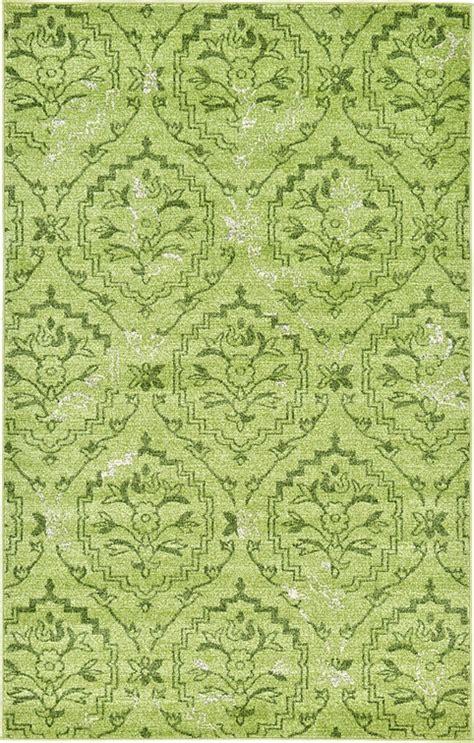 green damask rug light green 5 x 8 damask rug area rugs esalerugs
