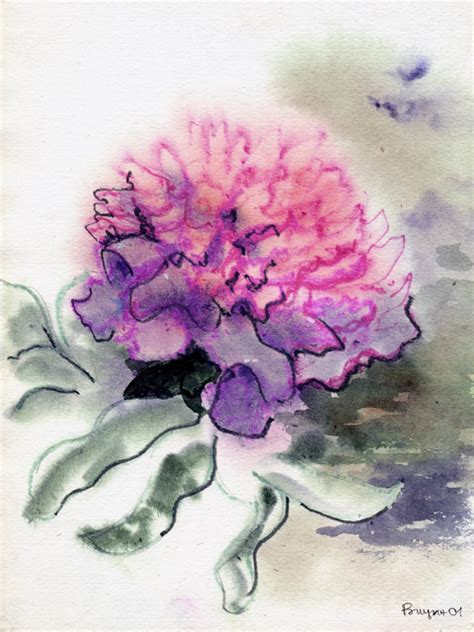 watercolor peony tattoo ink d on peonies peonies and