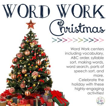 word work centers christmas   grade thoughts tpt