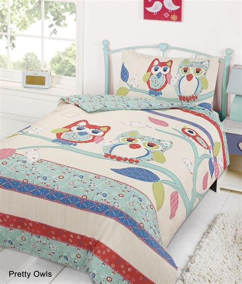 single bed quilt kids childrens quilt duvet cover with pillow case bedding