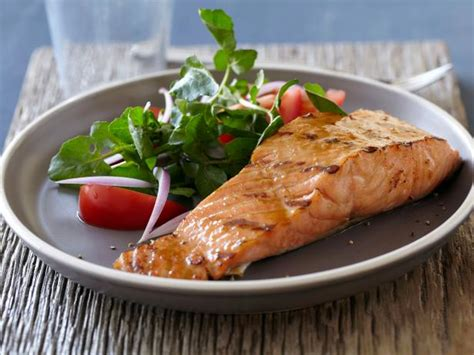 salmon food salmon with brown sugar and mustard glaze recipe bobby flay food network