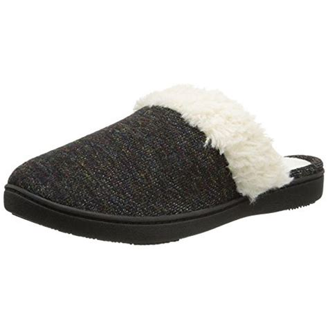 isotoner clog slippers isotoner 1051 womens terry sherpa slide clog