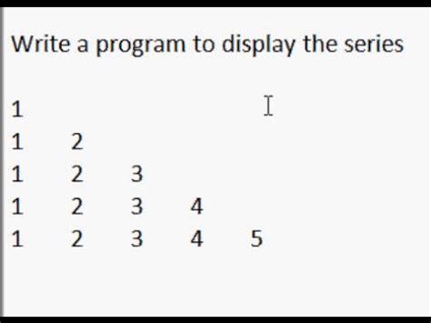java program for displaying pattern java pyramid 5 exle youtube