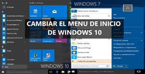cambiar imagenes inicio windows 10 cambiar men 250 inicio de windows 10 por el de windows 7