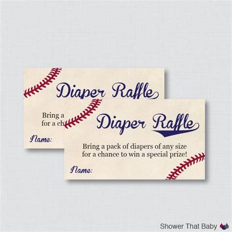 free sports themed business card templates baseball baby shower raffle tickets and raffle
