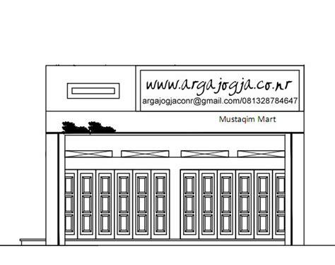 desain toko minimalis  samping toko existing argajogjas blog
