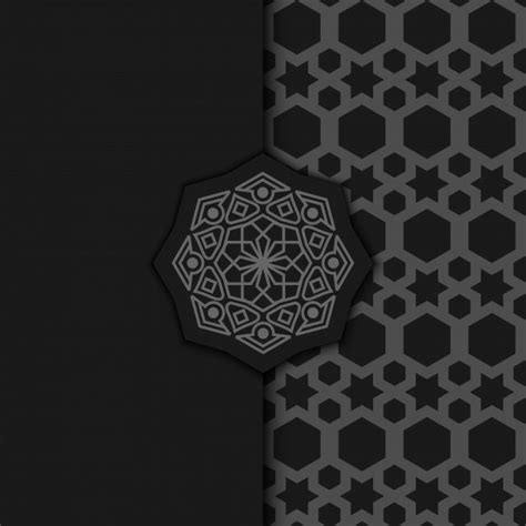luxury ornamental mandala design background  dark color