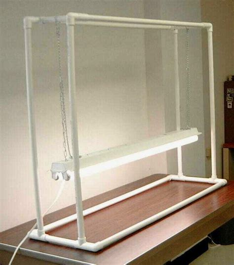 grow light stand    pvc plant stand indoor