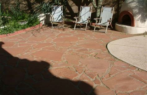 large arizona flagstone patio
